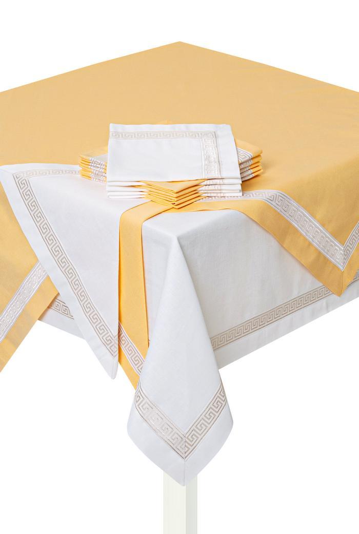 Комплект столового белья Лён (желтый)