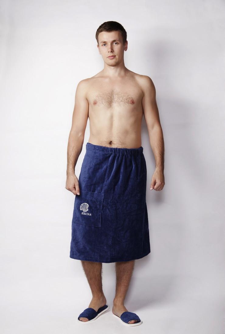 Полотенце-накидка велюровая на пуговице мужская