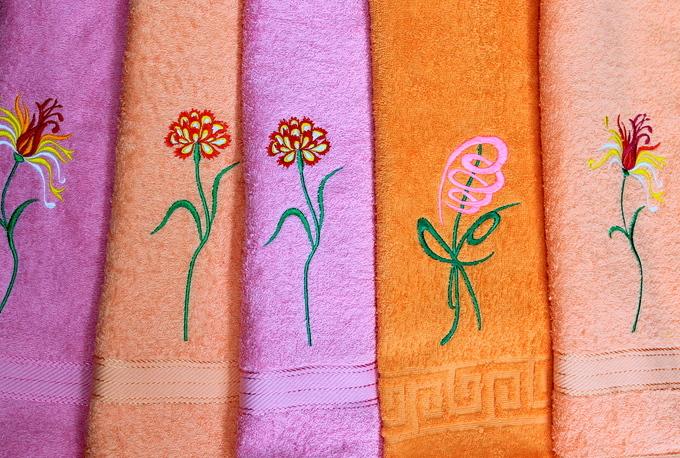 """Полотенца с вышивкой """"Нежность"""""""